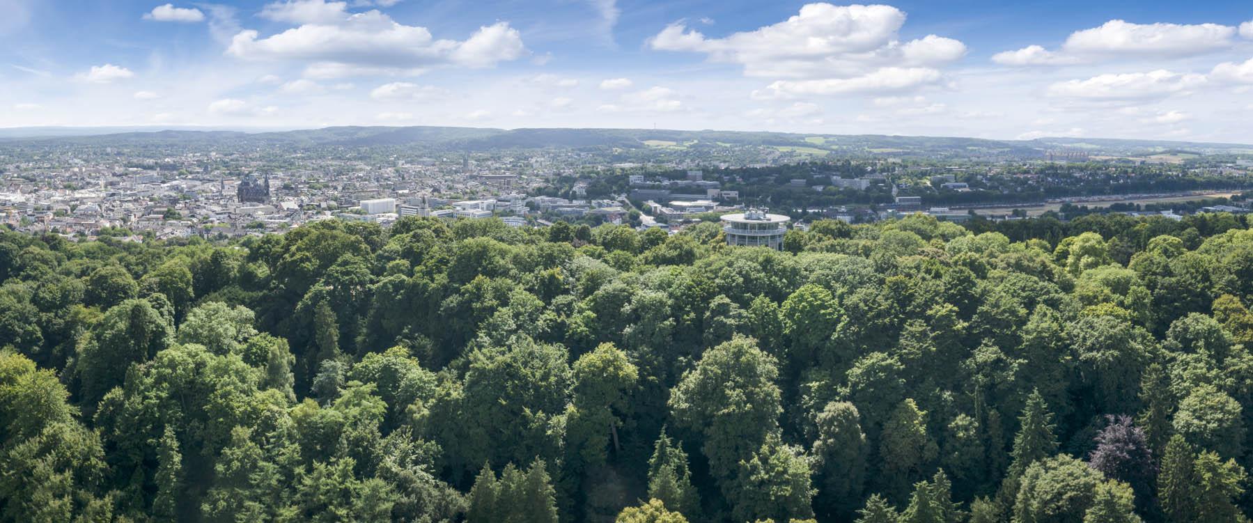Luftbildaufnahme von Aachen, der Aachener Lousberg