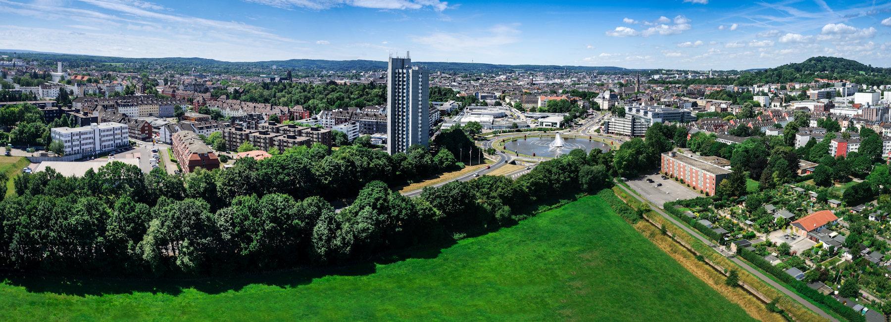 Luftbildaufnahme von Aachen, der Aachener Europaplatz aus 100m Flughöhe
